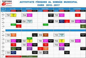 Activitats gimnas 2016-2017