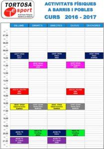 Calendari 2016-2017 Barris i pobles
